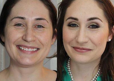 Jade Allen Makeup Before and After